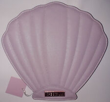 Spectrum Collections Lilac Faux Leather Shell Make-Up Brush Bag