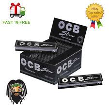 OCB Premium Black Kingsize Slim Large Rolling Smoking Cigarette Papers