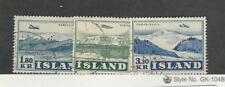 Iceland, Postage Stamp, #C27-C29 Used, 1952 Airplane