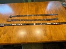 Vintage Studded and Jeweled Western Bundle of Belts