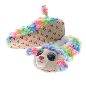 1 X ORIGINAL TY BEANIE BOOS FASHION SLIPPER SOCKS RAINBOW