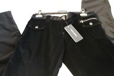 $695 NWT Women's D&G DOLCE & GABBANA Soft Black Casual Velvet Pants Trousers 44