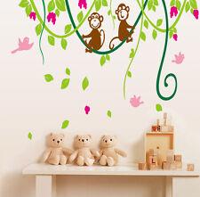 Monkey Swing Vines Children's Bedroom Wall Art Stickers / Wall Decals  - AY9012