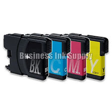 4 LC61 Ink Cartridges for Brother DCP-365CN DCP-385CW DCP-6690CN DCP-J125 LC61