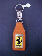 Ferrari Mondial Key Chain Fob Schedoni Leather BRAND NEW VINTAGE OEM