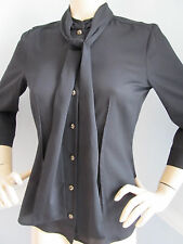 BRAND NEW ST JOHN KNIT SIZE S WOMENS TOP  BLOUSE  SILK BLACK