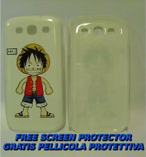 Pellicola+custodia BACK COVER rigida RUBBER per Samsung I9300 Galaxy S III