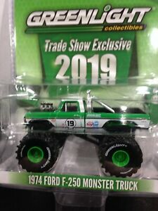 GREENLIGHT 1974 FORD F-250 MONSTER TRUCK  2019 TRADE SHOW/ TOY FAIR EXCLUSIVE