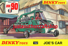 Dinky Toys 102 Joe 90 Gerry Anderson 1968 A3 Size Poster Advert Leaflet Sign