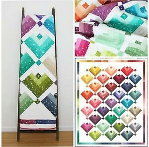 Lovely Ombre Cabins Quilt Kit & Pattern - fabric & Pattern