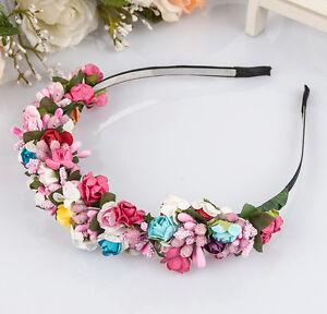 Women Girl Bridal Boho Flower Headband Festival Wedding Floral Garland