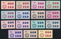 DDR-Dienst, MiNr. C 1-15, tadellos postfrisch, Mi. 40,-
