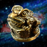 JIN CHAN Lucky Toad 3 legs Hunting Money Thai Amulet Talismans Wealth Lucky Holy