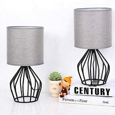 Set of 2 Modern Table Desk Lamp Hollowed Out Base Bedside...
