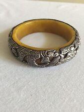 Tibetan Repousse Coin Metal Bracelet Bangle