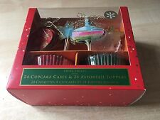 BNIB New Laura Ashley 24 Cupcake Cases & 24 Assorted Toppers - Christmas Bauble
