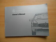 Betriebsanleitung Owner`s manual Mercedes-Benz 500 SEC / 600 SEC