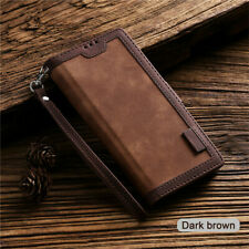 Luxury Leather Wallet Case Flip Card Phone Cover for Samsung S20 S10 S9 Plus A51