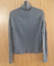 Gorgeous Grey Cotton Turtleneck Polo Neck Jumper From Zara In Size 8