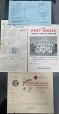 More details for england v west indies selection (ticket, letter,scorecard,brochure 50s/60s)