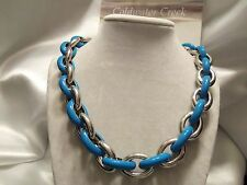 DISCONTINUED: CWC Pre-2014 Oval Links Necklace (SILVERtone & SKY BLUE)