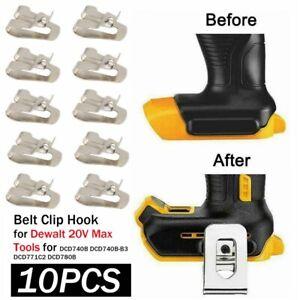 10 PACK Drill Belt Clip Hook For DEWALT 20V Max Tool DCD740B DCD740B-B3 DCD771C2