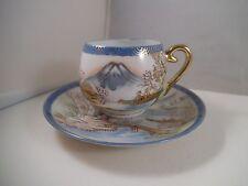 Vintage Nikoniko China Japan Teacup Tea Cup & Saucer Landscape Lithophane Geisha