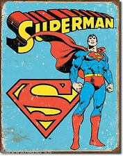 Vintage Style Retro Metal Wall SUPERMAN Tin Sign Poster DC Comic Book Large 1335