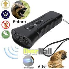 LED Flashlight Super Ultrasonic Dog Chaser Anti-Barking Training Pet Dog Device