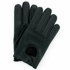 MENS CLASSIC VINTAGE  DRIVING GLOVES SOFT GENUINE REAL LAMBSKIN LEATHER MESH