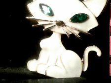Brooch-Free Gift Box-New With Tags Betsey Johnson Crystal & Enamel Cat