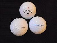 "10 CALLAWAY  ""CHROME SOFT"" -""PRACTICE""- PRINTED ON BALL - BLACK TICK - ""PEARL/A"""