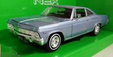 Nex models 1/24 Scale 22417W 1965 Chevrolet Impala SS 396 Blue Diecast model car