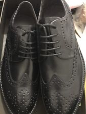 Brand New A.testoni DO47383MDG derby glove calf black Leather men's Shoes size 8