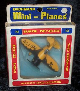 BACHMANN MINI-PLANES #73 Gee Bee Racer 8373 In Original Box & Trading Card