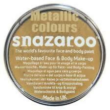 18ML SNAZAROO METALLIC GOLD FACE BODY PAINT MAKE UP HALLOWEEN FANCY DRESS