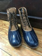 Unbranded women man made brown waterproof lace up above ankle duckie boots 8M