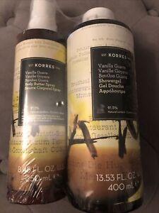 Korres Vanilla Guava set - Body Butter Spray (250ml) and Shower Gel (400 ml)