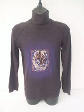 t-shirt  roberto cavalli ,dolcevita,maniche lunghe,tg 50