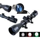3-9X 40mm Red/Green Mil-Dot Sight Illuminated Optics Hunting Sniper Scope SR1G