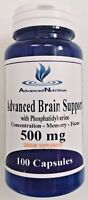 Phosphatidylserine & Gingko 500mg Constant Focus Memory ADVANCED BRAIN SUPPORT