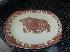 STAFFORDSHIRE  POTTERY BEEFEATER / BULL STEAK PLATE