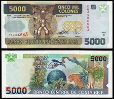 COSTA RICA 5000 COLONES (P268Ab) 2005 UNC