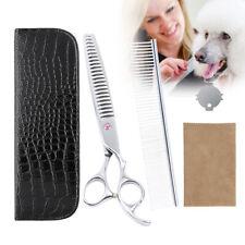 "8"" Professional Pet Dog Grooming Scissors Comb Chunker Thinning Shears Case Set"
