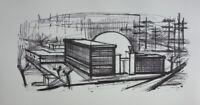 Bernard BUFFET - L'usine, Lithographie signée