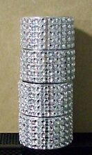 SILVER BLING NAPKIN RING PARTY TABLE DECOR WEDDING BABY SHOWER HANDMADE NEW