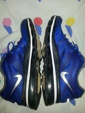 Nike Air Max+ 2012, Blue/Silver/Black, Mens Running Shoes, 487982-400, Size 15