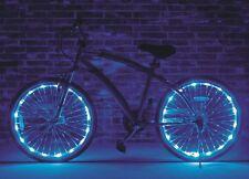 "Wheel Brightz Blue 2 PACK Lights LED Bike Bicycle Scooter Tube Waterproof 20""+"