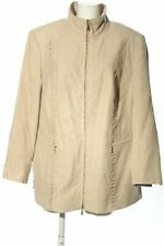 M. COLLECTION Chaqueta de entretiempo crema look casual Mujeres Talla EU 50