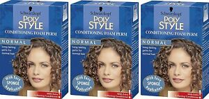 3 x Schwarzkopf Poly Style Conditioning Foam Perm Normal Hair (Pack of 3)
